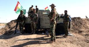 Peşmergeler, Erbil-Kerkük karayoluna yığınak yaptı!