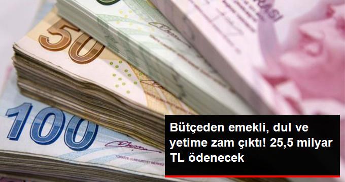Emeklilere, Dul ve Yetimlere Ödenecek Miktar 25,5 Milyar Lira Arttı