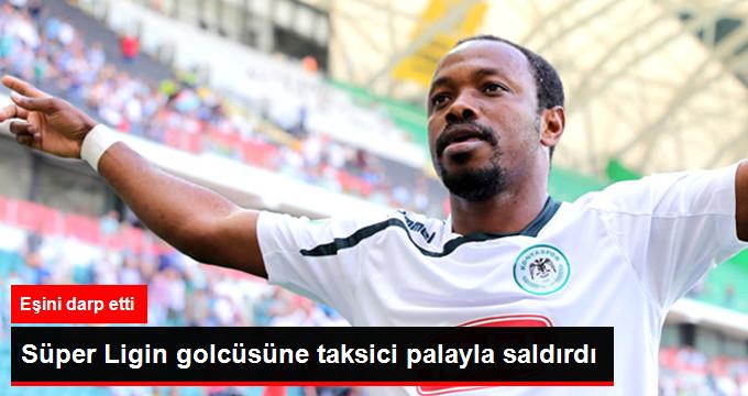 Süper Ligin golcüsüne taksici palayla saldırdı