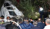Kestane işçilerini taşıyan araç, uçurumdan yuvarlandı: 3 ölü, 1 yaralı