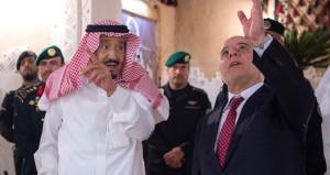 Ordusu Erbil'e yürüyen İbadi, Arabistan'da krallar gibi karşılandı