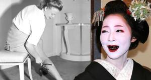 Diş karartmaktan, bacak boyamaya geçmişteki en tuhaf güzellik akımları