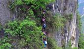 Bu öğrenciler okula gitmek için her sabah 800 metre tırmanıyor