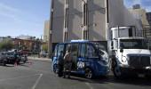 Sürücüsüz belediye otobüsü, hizmete girdiği ilk gün kaza yaptı