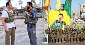 Trum'ın PKK temsilcisi, aynı meydanda ortaya çıktı: Rakka süper olmuş