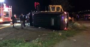 Erdoğan'ın koruma ekibini taşıyan minibüs kaza yaptı: 4 yaralı