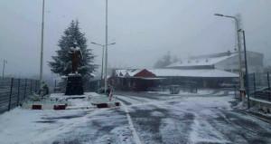 Beklenen kar Kırklareli'nden giriş yaptı! Kalınlık 7 santim