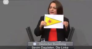 Almanya'da skandal! Türkiye kökenli Alman vekil, terörist bayrağı açtı