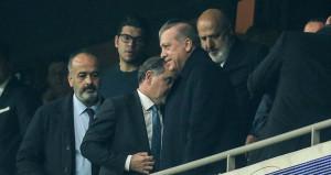 Cumhurbaşkanı Erdoğan Beşiktaş maçını locadan izledi