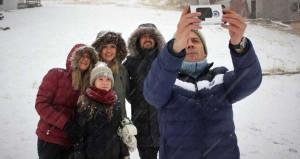 Türkiye'den ilk kar manzaraları! Selfie bile çektiler