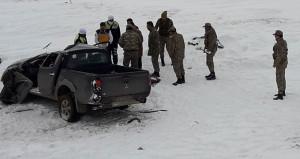 Kaza yaptığı araçtan fırlayan sürücü, donarak hayatını kaybetti