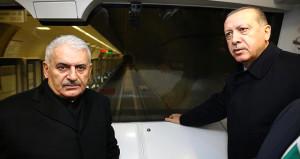 İlk sürücüsüz metro hareket etti, Erdoğan ve Yıldırım sendeledi