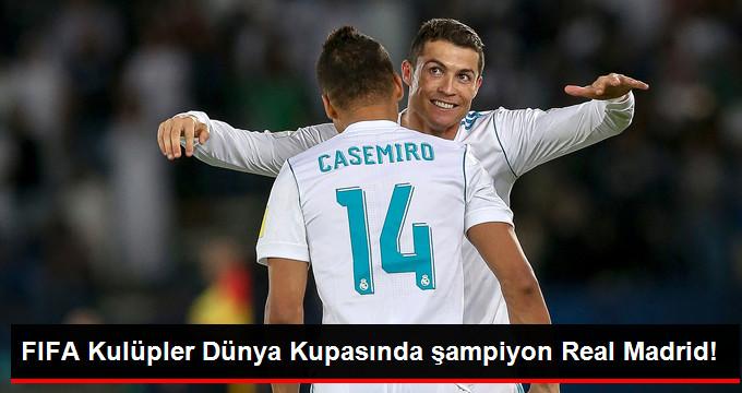 FIFA Kulüpler Dünya Kupasında şampiyon Real Madrid!