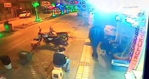 Hayvanlara eziyet bitmiyor! Sokakta uyuyan köpeğe tekme attı