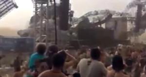 Fırtına sahneyi uçurdu, DJ işinin başında can verdi