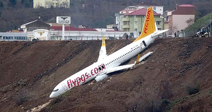 Trabzon'daki uçak kazasından yeni görüntüler