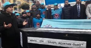Metal işçisi tabut kaldırdı! Talepleri 130 bin işçiyi kapsıyor