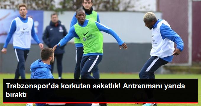 Trabzonspor da korkutan sakatlık! Antrenmanı yarıda bıraktı