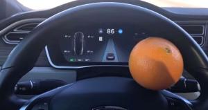 Dünya şaşkına döndü! Çılgın sürücü, Teslayı portakalla kandırdı