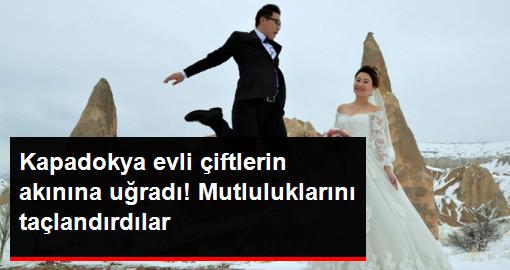 Evli Çiftler Düğün Fotoğrafı İçin Kapadokya'ya Akın Ediyor
