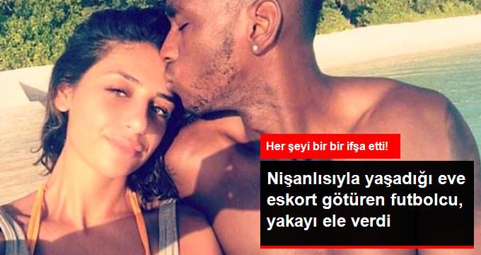 Nişanlısıyla yaşadığı eve eskort götüren futbolcu, yakayı ele verdi