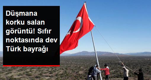 Hataylı Köylüler Afrin Sınırına Türk Bayrağı Astı