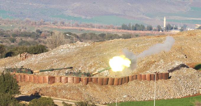 Türk topçusu, Afrin'i vurdu