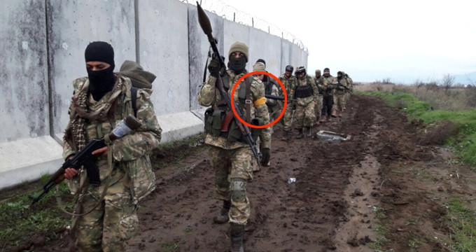 Afrin'deki ÖSO askerleri görüntülendi! Fotoğraflardaki detaya dikkat