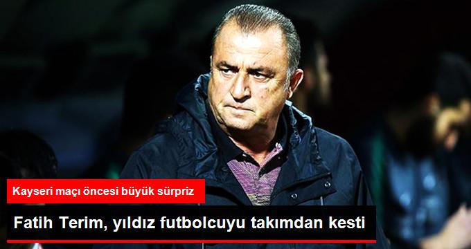 Fatih Terim, yıldız futbolcuyu takımdan kesti