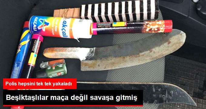 Beşiktaşlılar maça değil savaşa gitmiş