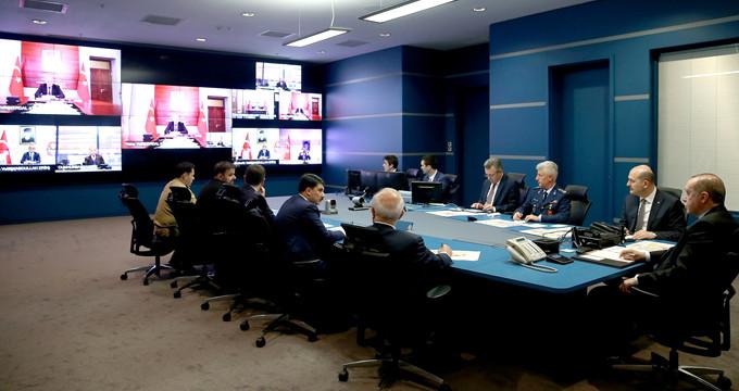 Erdoğan, video konferans ile operasyonu yöneten komutandan bilgi aldı
