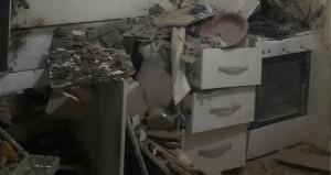 Suriye'den atılan roket mutfağa isabet etti!
