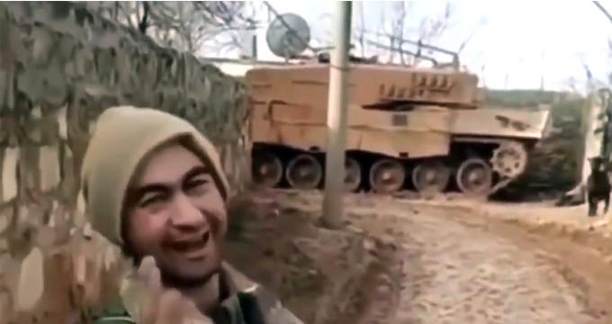 Afrin'deki Mehmetçik'in, 'Bingöllü çoban' taklidi kahkahaya boğdu
