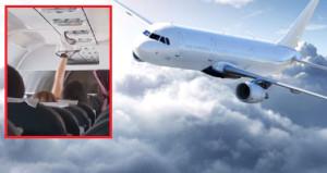 Şaşkın gözleri umursamadı! Kadın yolcu iç çamaşırını uçakta kuruttu