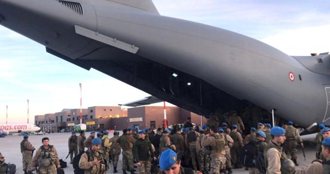Mavi bereli aslanlar Suriye sınırına böyle uğurlandı
