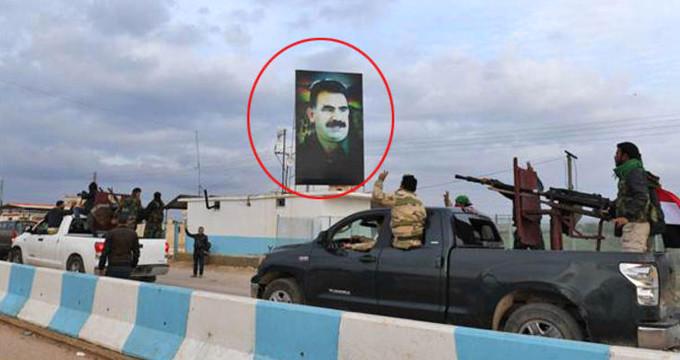 """Afrin'e """"Öcalan"""" şovuyla girmeye kalkan Esad güçleri, apar topar kaçtı"""