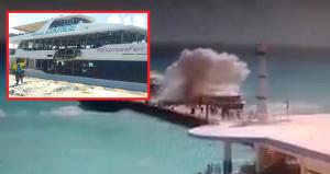 Feribottaki patlama yolcuları denize savurdu
