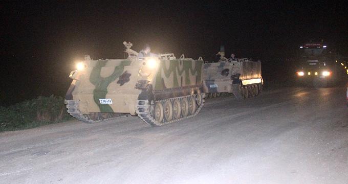 Sınır hattında dikkat çeken hareketlilik! Tanklar bölgeye ulaştı