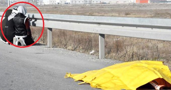 Otomobilin çarptığı yaya öldü; araçtakiler şoka girip bariyere baktı