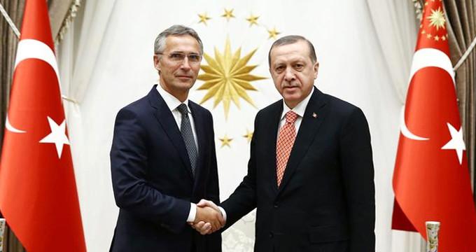 Erdoğan, NATO Genel Sekreteri ile Zeytin Dalı Harekatı'nı görüştü