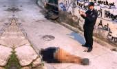 Sokak ortasında yaşlı adamın cesedini bulan polis, başında dua etti