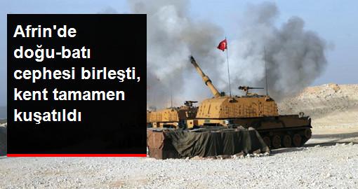 Son Dakika! Doğutan Batıya ve Batıdan Doğuya Giden Birlikler Afrin'in Kuzeyinde Birleşti