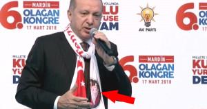 Cumhurbaşkanı Erdoğan'ın atkısında dikkat çeken detay!