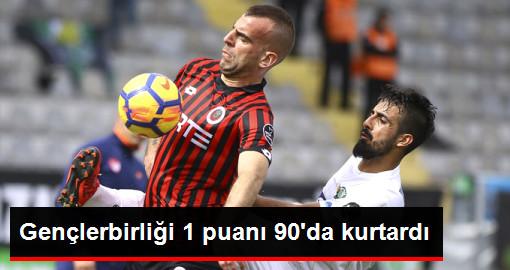 Gençlerbirliği ile Akhisarspor 1-1 Berabere Kaldı