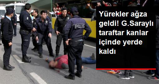 Galatasaray Taraftarı, Derbi Yolunda Otobüsten Düşerek Ağır Yaralandı