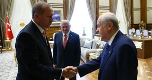 Erdoğan ve Yıldırımdan Bahçeliye tebrik telefonu!