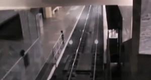 İstasyona yanaşan 'hayalet tren' herkesi şaşkına çevirdi
