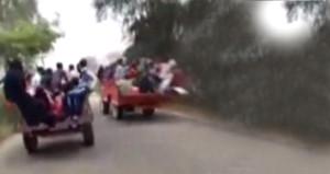 Traktörler kapıştı, tehlikeli yarış facia ile sonlandı