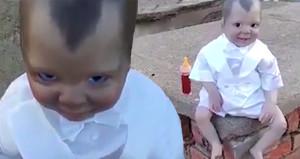 Gözleriyle takip ediyor! Mezarlıkta bulunan oyuncak bebek korku saçtı