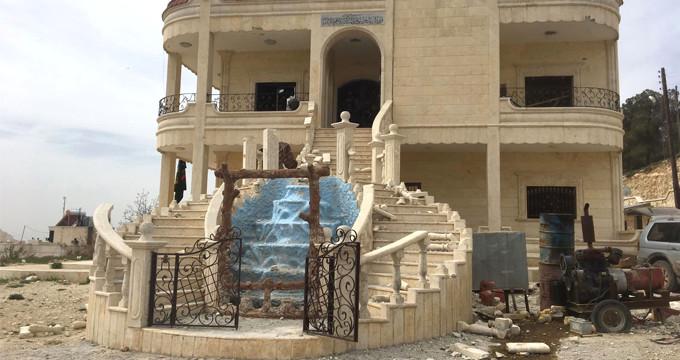 PKK'nın Afrin'deki stratejik villaları böyle görüntülendi